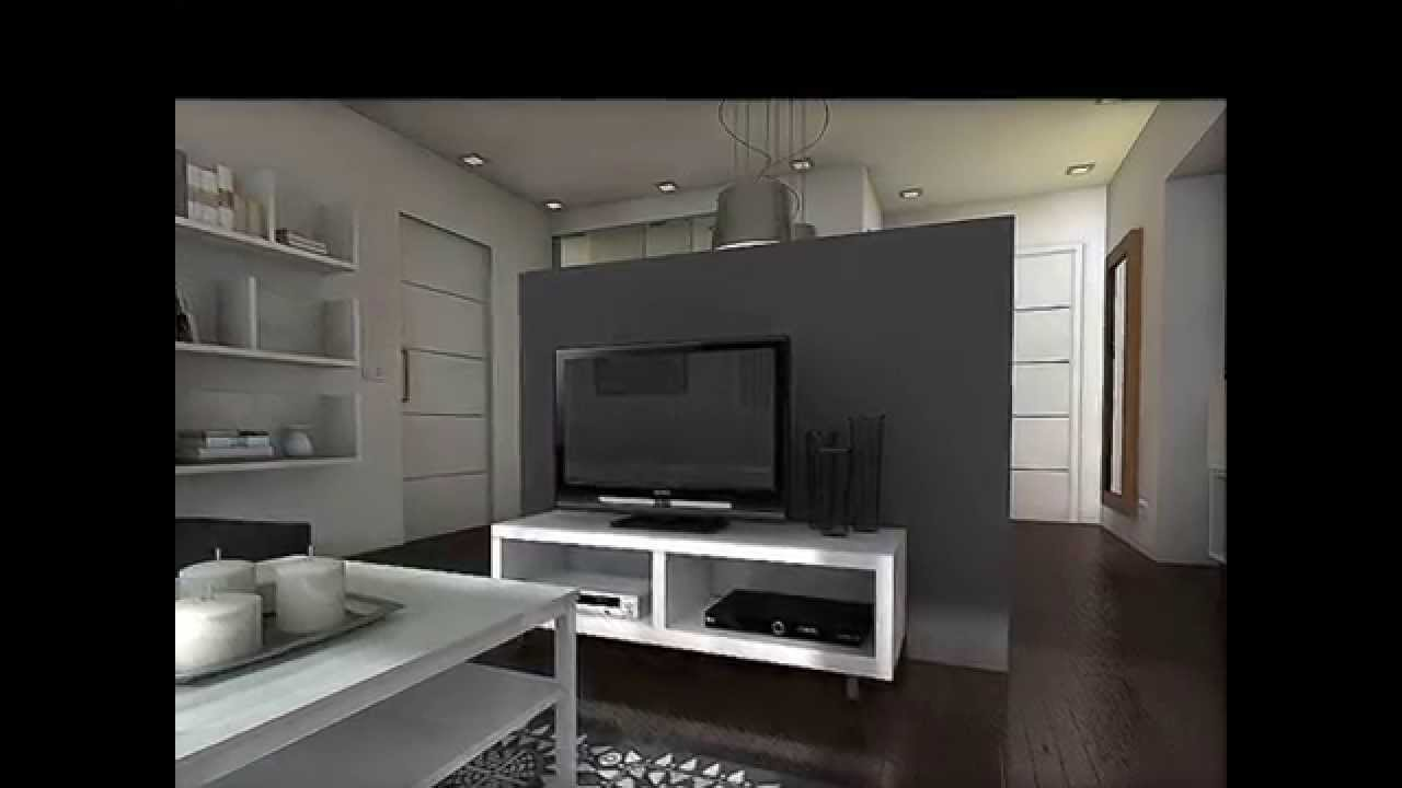 Dise o interior apartamento 55 m2 youtube for Diseno interior departamento