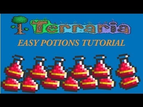 How to make lesser healing potions on Terraria