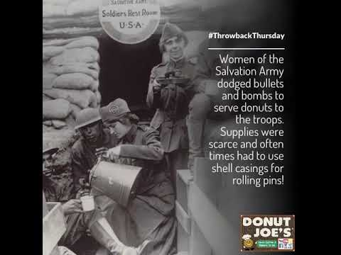 Salvation Army Women Serving Donuts