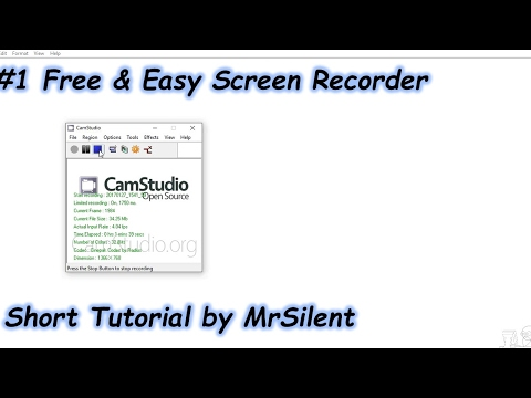 [TUTORIAL] CamStudio (#1 Free & Easy Screen Recorder)