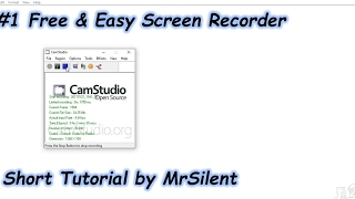 [TUTORIAL] CamStudio (#1 Free & Easy Screen Recorder)
