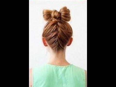 МК - озорная прическа с бантиком из волос //// mischievous hairstyle with a bow made of hair