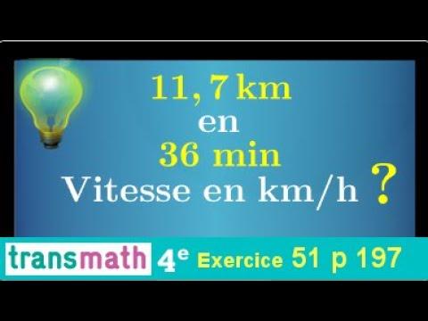 Download calculer la vitesse moyenne en m/min et km/h • conversion heure minute • Formule V=d/t • Quatrième