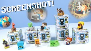 Minecraft Mini-Figures Screenshot Series 13 Collection Hidden Scene!