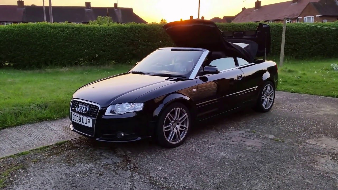 Audi A4 Cabriolet Convertible Sline Tdi 20 B7 Auto Cvt Roof Youtube