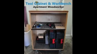 Tool cabinet and mobile workbench by Apartment Woodworker