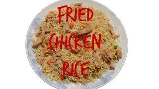 Жареный рис с курицей и овощами.Простой рецепт на каждый день.