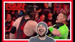 Reaction | UNDERTAKER Called A Coward By JOHN CENA, KANE Responds!!! | WWE Raw March 19, 2018
