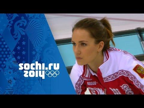 Curling - Women's Round Robin - Russia v Korea | Sochi 2014 Winter Olympics