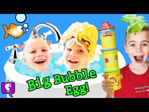 World's BIGGEST BUBBLE EGG! KIDS Toys Octonauts + Thomas and Friends HobbyKidsTV