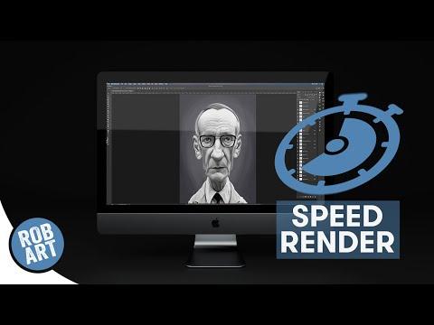 William Burroughs Painting Process