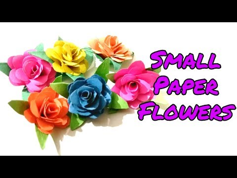 DIY Paper Flowers/How to make small paper flowers/Embellishment Art n Craft