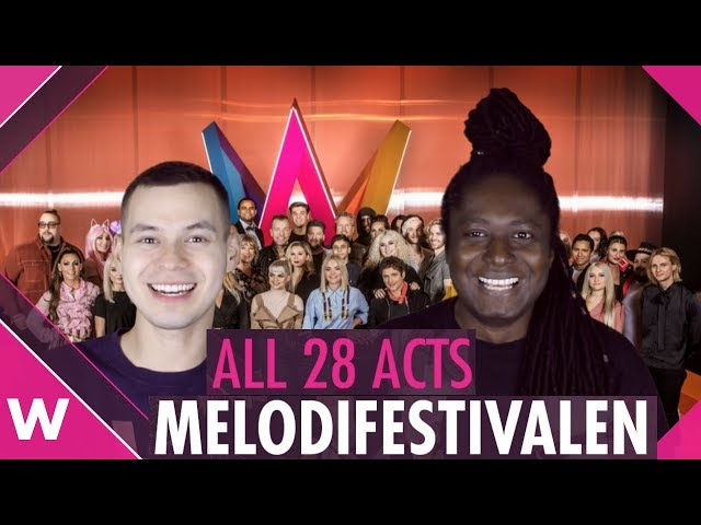 Melodifestivalen 2019: All 28 artists