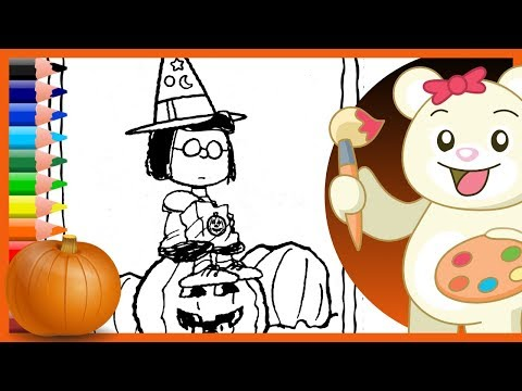 halloween-charlie-brown-marcie-peanuts---holiday-coloring-pages