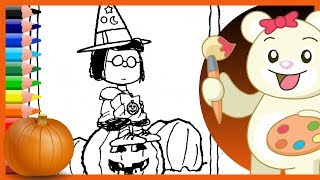 Halloween Charlie Brown Marcie Peanuts - Holiday Coloring Pages