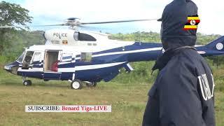 POLICE CHOPPER CARRYING REBECCA KADAGA EXCITES KAPCHORWA RESIDENTS AT SABINY CULTURAL DAY