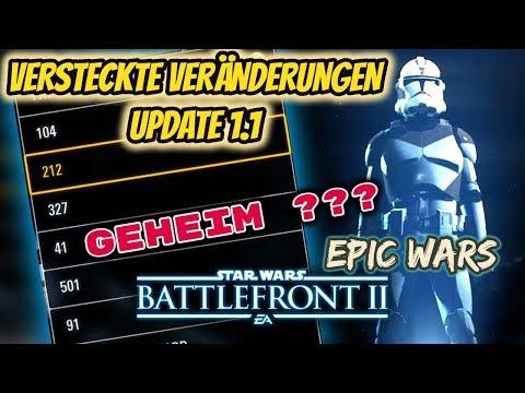 VERSTECKTE VERÄNDERUNGEN IM UPDATE 1.1 | Star Wars Battlefront 2