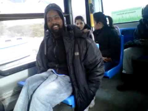 Crack Head On The Brampton Transit!
