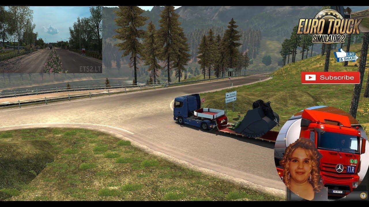 Euro Truck Simulator 2 (1 31 Beta) Spring Graphics & Weather Mod v 2 9 +  DLC's & Mods