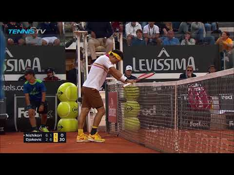 Miss of the decade? Kei Nishikori epic smash fail | Rome 2018 Quarter-Final