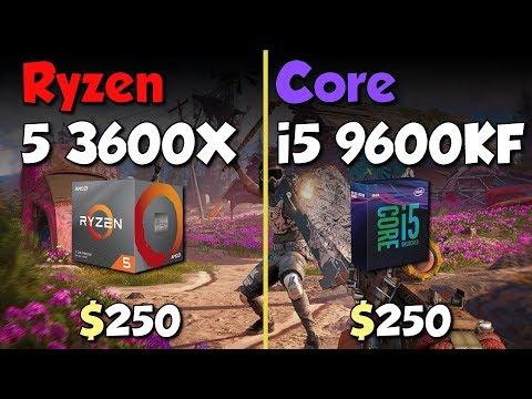 Ryzen 5 3600X vs i5 9600KF. Test in 10 Games