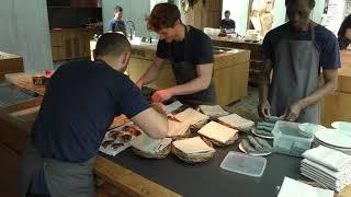 Kitchen Service at restaurant Noma in Copenhagen, Denmark