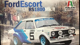Italeri 1:24th scale Ford Escort RS 1800 mk2 part five