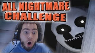 ALL NIGHTMARE CHALLENGE - NOCHE 7 NIGHTMARE | FIVE NIGHTS AT FREDDY