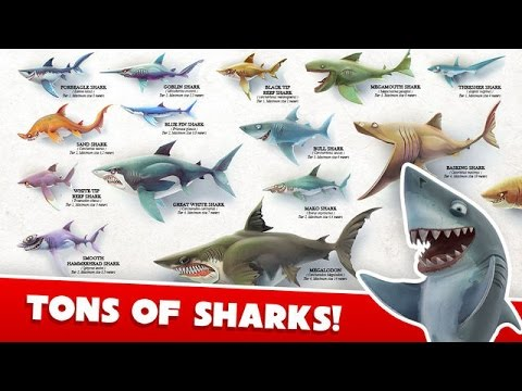 Hungry Shark World All Sharks And How To Get