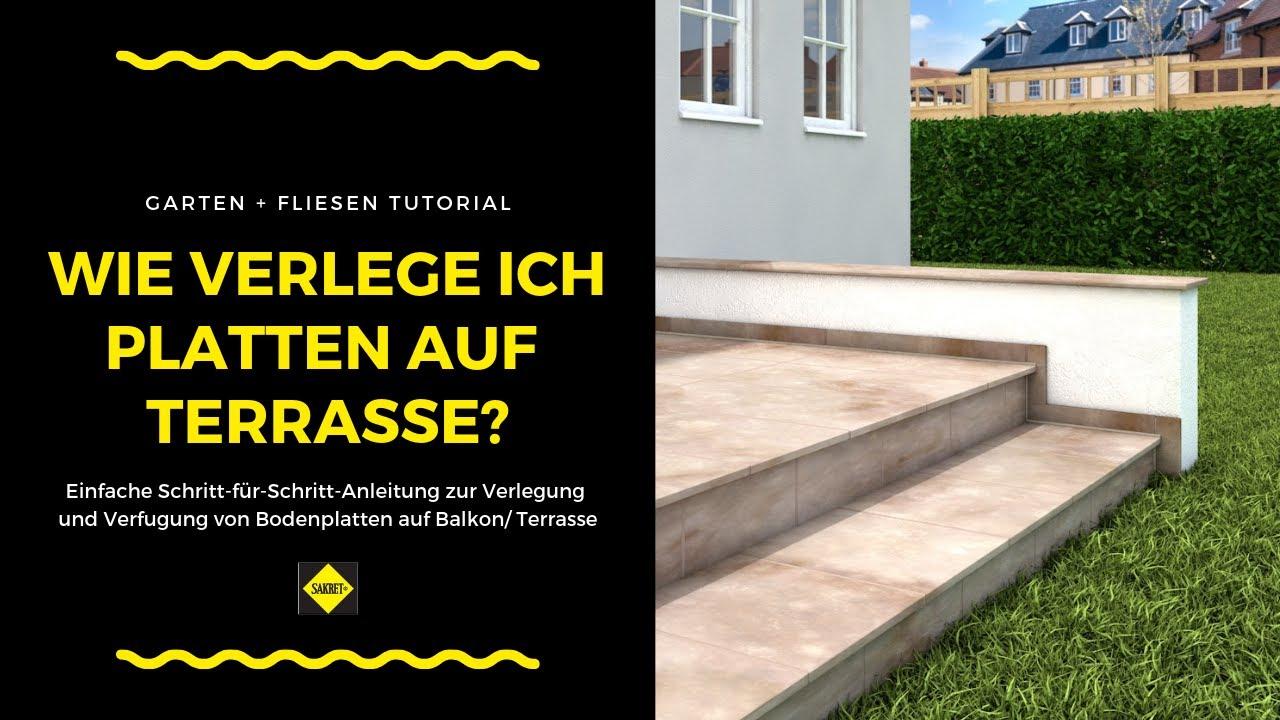 Bodenfliesen / Bodenplatten Auf Balkonen Und Terrassen Verlegen Und