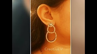 Quilling Stud Earrings /Tutorial 2
