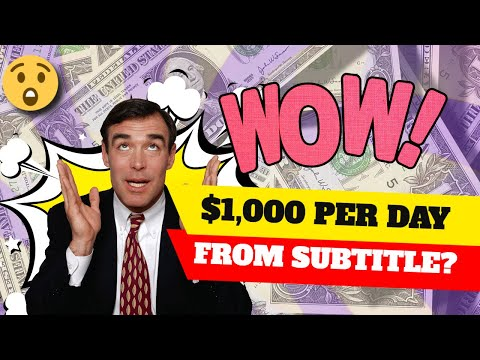 $1,000 Per Day From Youtube Subtitle | Youtube Captions in 2021 | extra way to make money