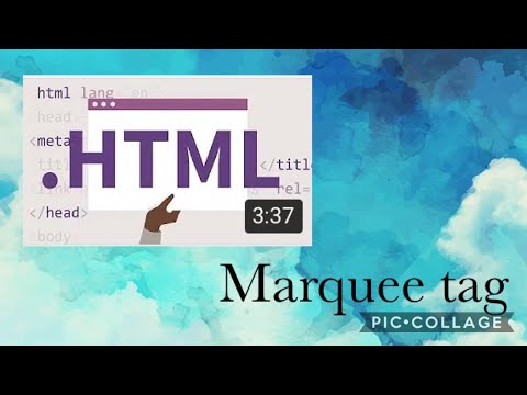 HTML | Hyper Text Markup Language | Marquee Tag
