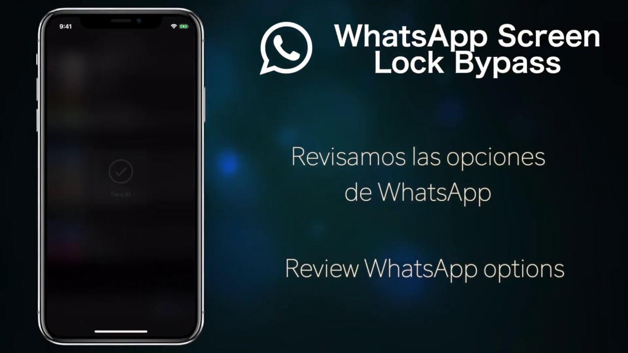 WhatsApp for iPhone Screen Lock ByPass Bug