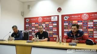 Pressekonferenz - 1. FSV Mainz 05 II gegen 1. FC Magdeburg 2:2 (0:2) - www.sportfotos-md.de