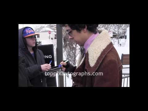 Geoffrey Arend  Signing Autographs at the Sundance Film Festival