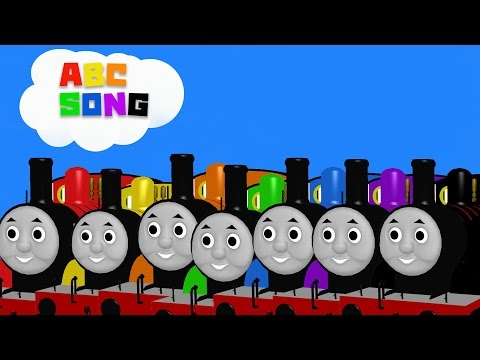 ABC Song |ABCD Songs for Children - 3D THOMAS tank engine Learning ABC