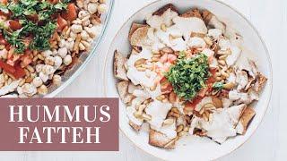 HUMMUS FATTEH » EASY Mid-Eastern Breakfast Casserole Dish