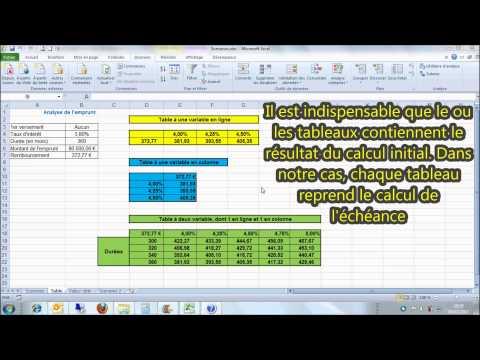 Excel comment fonctionne l 39 outil valeur cible - Tableau d emprunt excel ...
