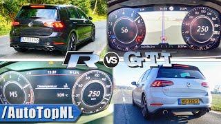 VW GOLF GTI vs GOLF R 250km/h ACCELERATION SOUND & AUTOBAHN POV by AutoTopNL