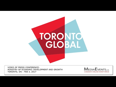 Toronto Global Announcement - Ministry of Economic Development and Growth