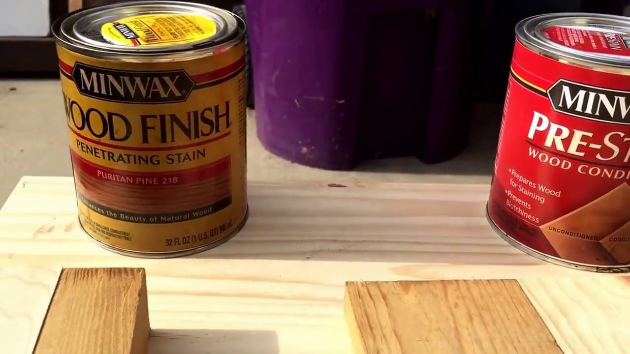 Staining Pine Birch Adler And Other Light Woods That Are Blotchy Minwax Pre Stain Conditioner