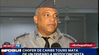 Chófer de Caribe Tours mata de un disparo a motoconchista