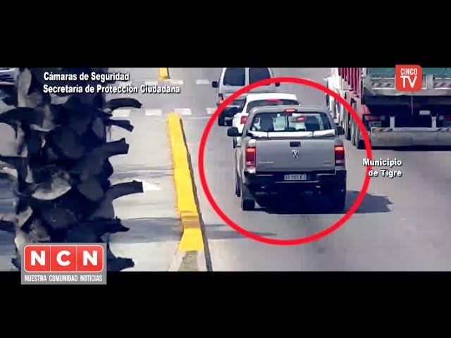 CINCO TV - Circulaba por Tigre con una camioneta robada y fue detenido gracias al sistema BUSCADOR
