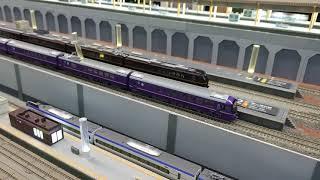 【Nゲージ】 E655系和、485系華発車