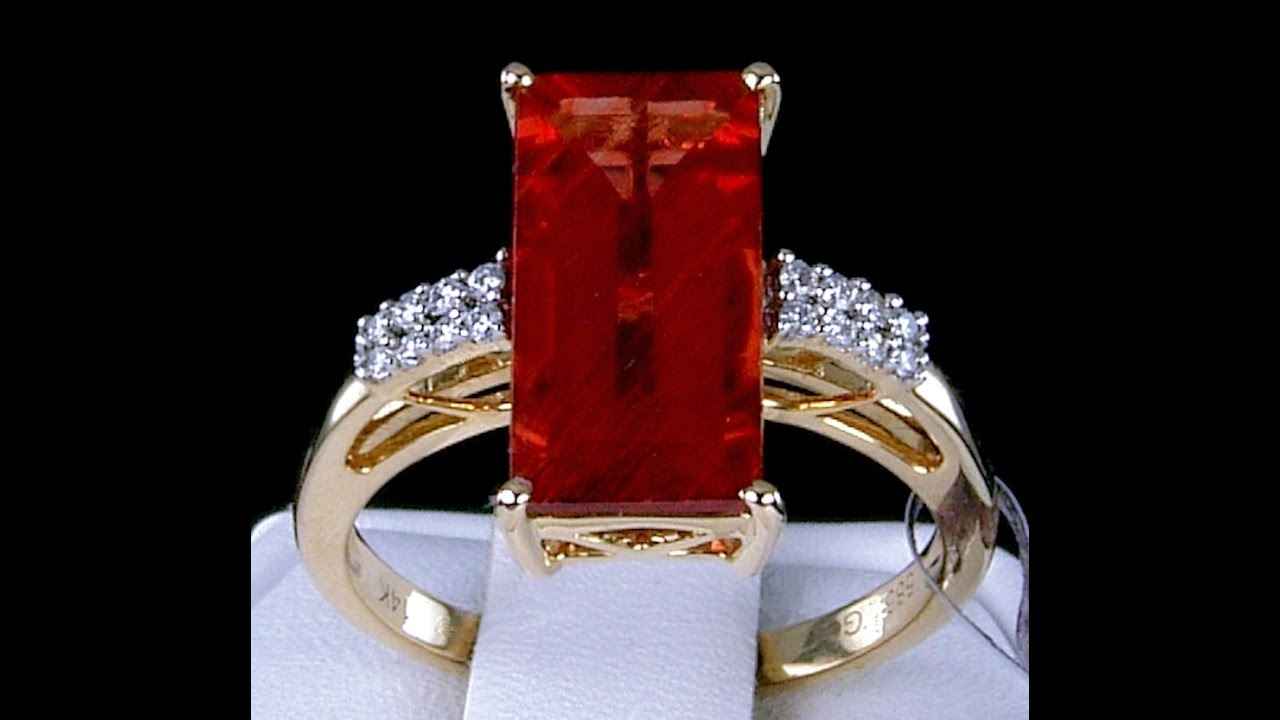 Genuine Mongolian Andesine Solitaire With Diamond Accents 14k Solid Gold Ring