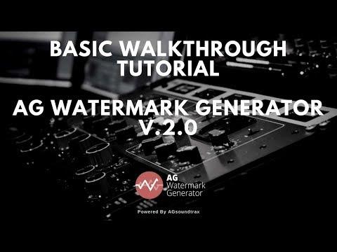 Basic Walkthrough - AG Watermark Generator V.2 [Audio Watermarking]