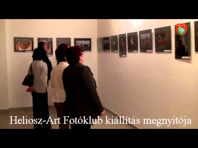 Heliosz-Art Fotóklub kiállítás megnyitó