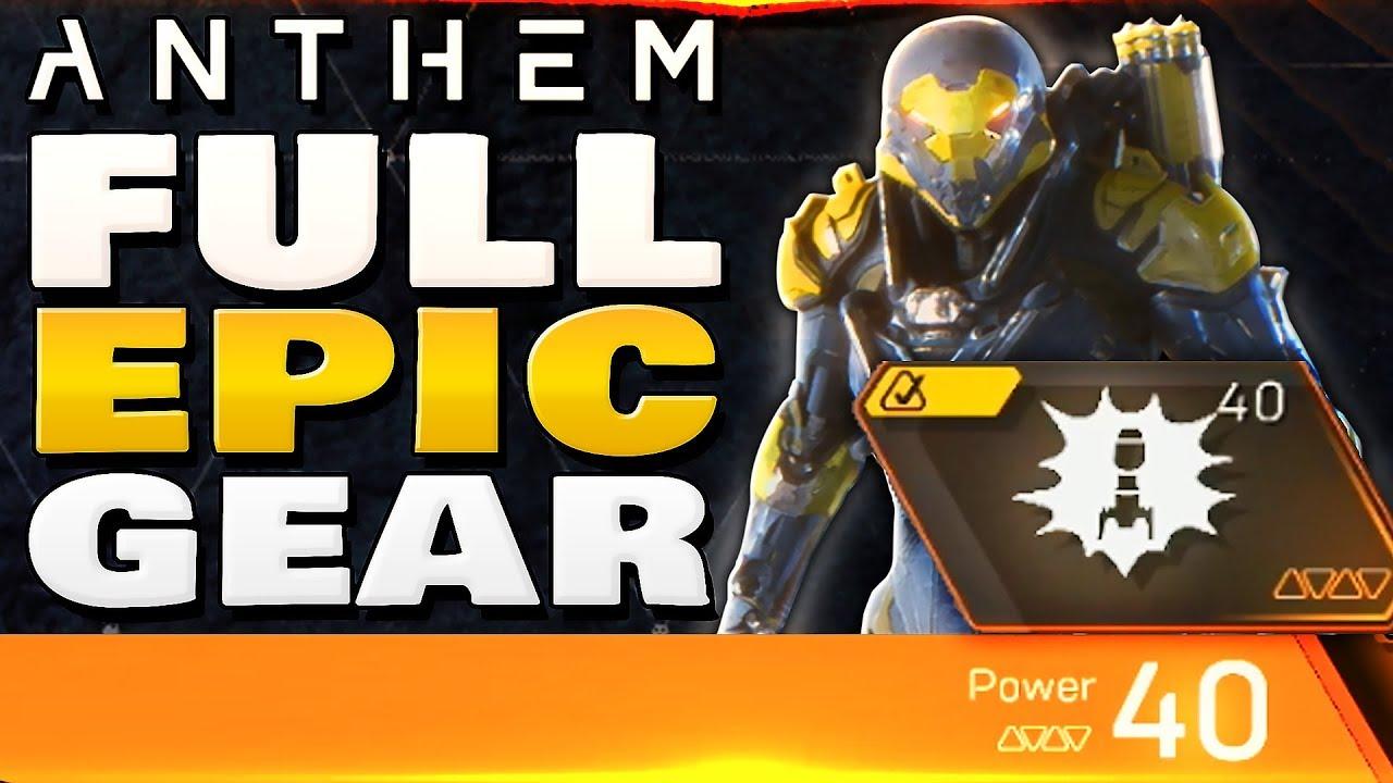Anthem Full Epic Gear Ranger Loadout Masterwork Armor More