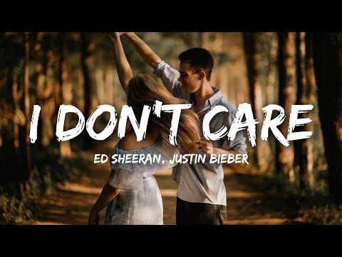Ed Sheeran, Justin Bieber - I Don't Care (Lyrics)